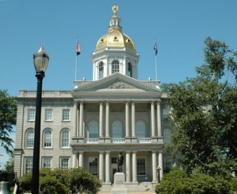 New Hampshire state capitol building