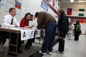 Iowa Voters Take Part In First Caucuses Of Presidential Election