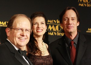 From left to right: Dr. Ted Baehr, Sam Sorbo and Kevin Sorbo (WND photo/Steve Schilling)