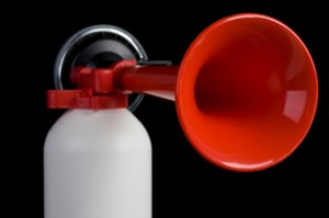 An air horn like this was used to disturb golfers at the Shalimar Pointe Country Club in Florida.