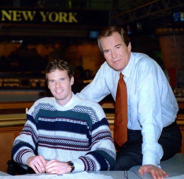 Joe Kovacs and Peter Jennings of ABC News