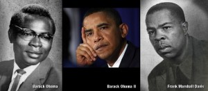 Barack Obama Sr., Barack Obama II and Frank Marshall Davis