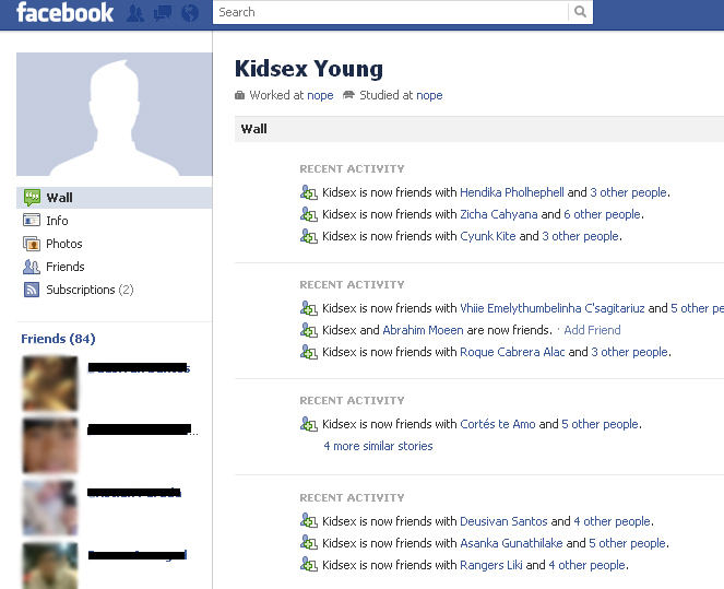 """One Facebook user identified as """"Kidsex Young"""" quickly """"friends"""" those with  similar interests to trade photos and videos of abuse."""
