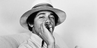 Barack Obama smoking in his youth