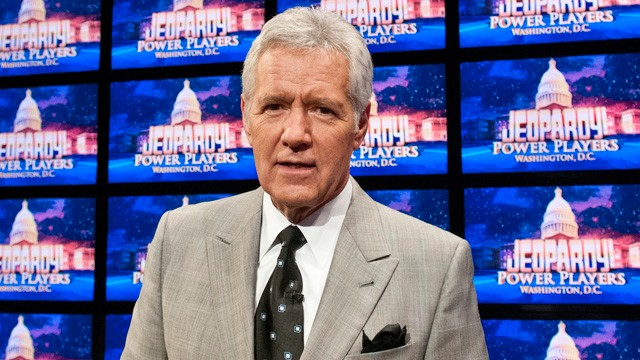 "Alex Trebek on the set of ""Jeopardy!"""