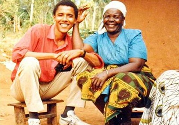 exhibit 3 obama in africa with his grandmother sarah in 1987 - Obama Wedding Ring