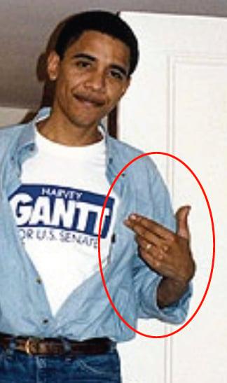 exhibit 7 close up of 1990 photo - Obama Wedding Ring
