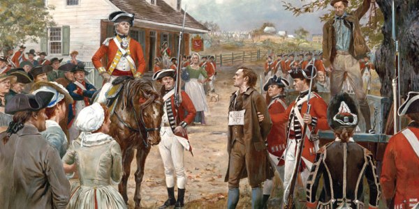The hanging of Nathan Hale