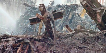 Cross at 9/11 Ground Zero