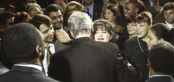 Monica Lewinsky and President Bill Clinton