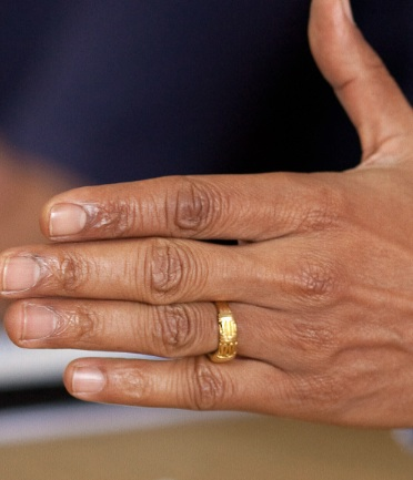 Obamas Hand In A White House Photo