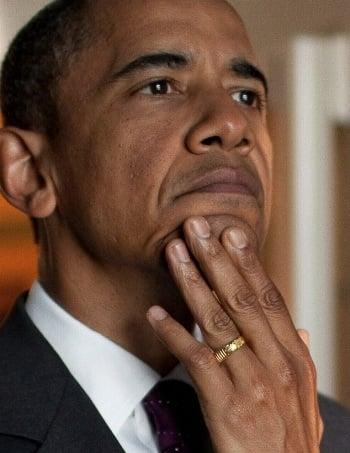 Obamas ring allah
