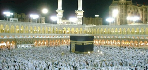 "The Grand Mosque at Mecca, which is kept strictly off limits to ""infidels"" by the Saudi government."