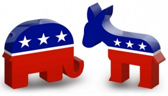 Democrat And Republican Symbol the Democratic Party in