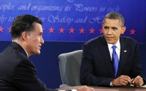Mitt Romney and President Barack Obamadebate during the 2012 campaign