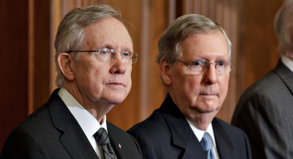 Senate Minority Leader Harry Reid, D-Nev., and Senate Majority Leader Mitch McConnell, R-Ky.