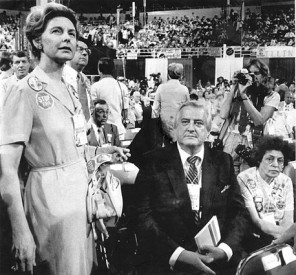 The late U.S. Rep. Henry Hyde, R-Ill., and Schlafly at the 1980 GOP Convention