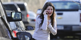 Carlee Soto reacts to the news of children slaughtered at school in Newtown, Connecticut.