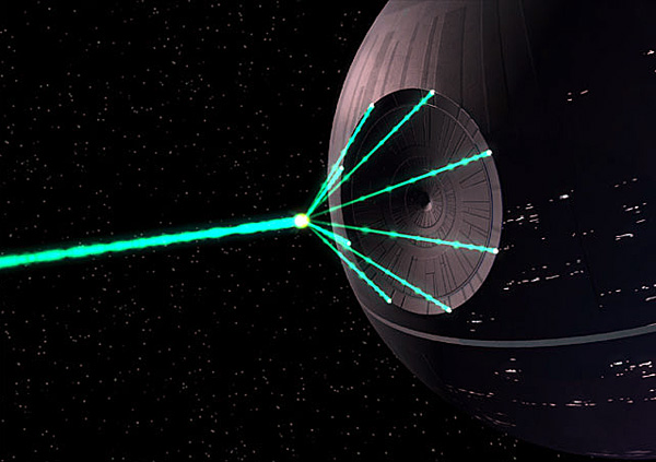 The fully armed and operational death star from the quot star wars quot film
