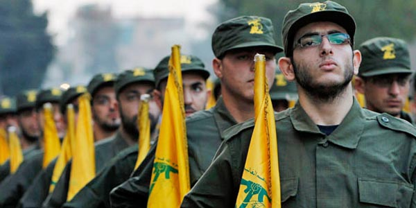 Hezbollah forces in Lebanon