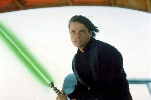 "Mark Hamill as the jedi Luke Skywalker in ""Star Wars"""