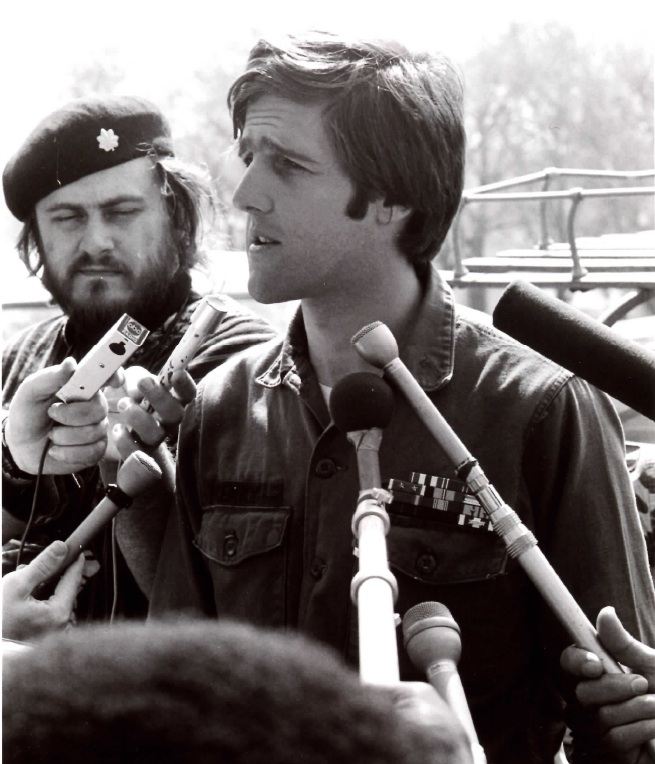 John Kerry representing Vietnamese Veterans Against the War at a protest in Washington, D.C., April 20-21, 1971 (Photo: Library of Congress, LC-U9-24273)