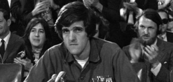 John Kerry gave controversial testimony during the 1971 Fulbright Hearings on Capitol Hill.