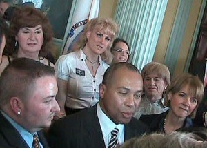 Gov. Deval Patrick with transgenders