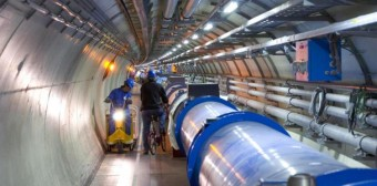 The Hadron Large Collider operated by CERN laboratory near Geneva, Switzerland.
