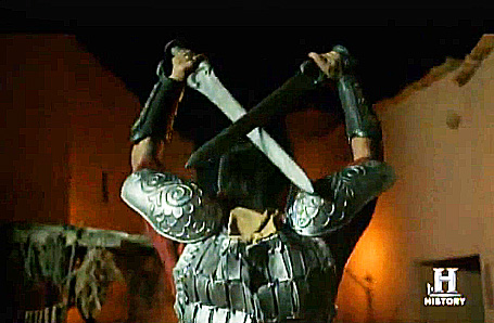 "An angel of God becomes a Ninja-style warrior who goes on a stabbing spree in the ancient city of Sodom in ""The Bible"" TV miniseries. The stabbing spree is not mentioned in the actual biblical account."