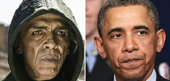 """Some are comparing Satan from """"The Bible"""" TV miniseries with President Obama."""