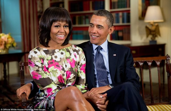 Former President Barack Obama and wife, Michelle
