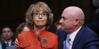Gabby Giffords with her husband, Mark Kelly.