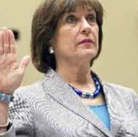 Lerner as she takes her seat before a House Oversight and Government Reform Committee hearing on Capitol Hill in Washington