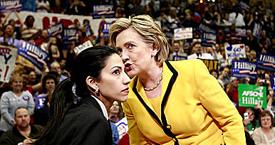 Human Abedin and Hillary Clinton