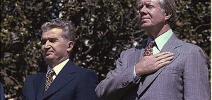 Nicolae Ceausescu and Jimmy Carter at the White House in 1978