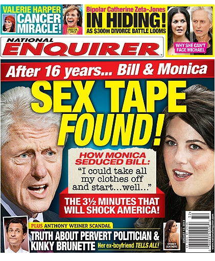 Hannity Spent 17 Minutes of His Show Tonight Covering a National Enquirer  Report About Hillary Clinton