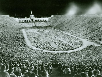 Billy Graham's crusade at the Los Angeles Coliseum in 1963 set an attendance record of 134,254