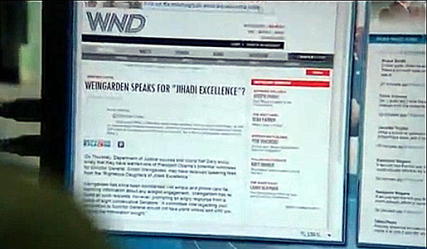 """Fake WND.com news story displayed in season 2, episode 5 of HBO's """"The Newsroom."""" (First aired Sunday 8/11/13)"""