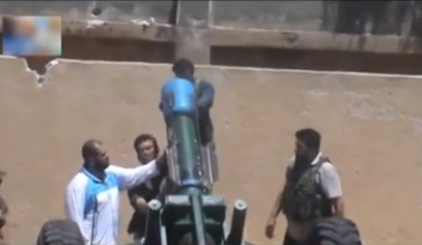 Syrian Rebels prepare chemical artillery