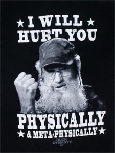 Duck Dynasty' star too 'violent' for school