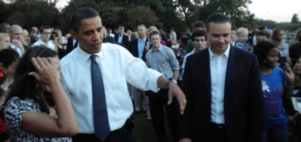 President Obama and Dan Bongino as a member of the president's Secret Service team