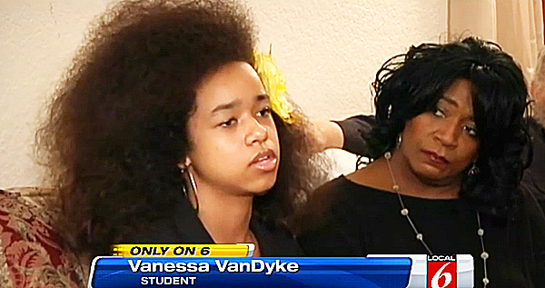 Awesome Black Girl39S Puffy Hair Upsets Christian School Hairstyles For Men Maxibearus