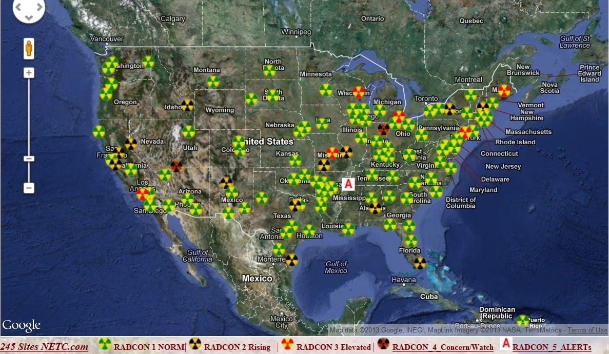 Radiation alerts hit U.S. cities