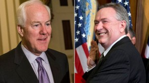 Sen. John Cornyn, R-Texas and Rep. Steve Stockman, R-Texas