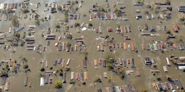Hurricane Katrina's damage