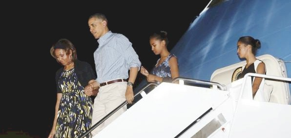 One of the Obama family vacations