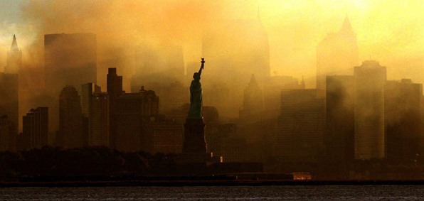 New York City after the Sept. 11, 2001, terror attacks