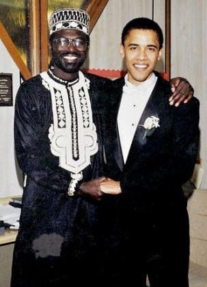 Malik Obama, best man at the wedding of Barack H. Obama, Oct. 3, 1992