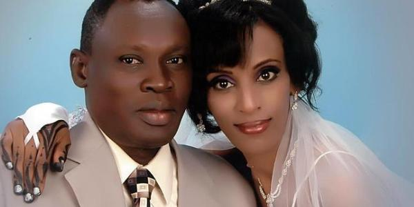 Meriam Yehya Ibrahim, right, and her husband, Daniel Wani